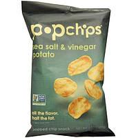 Popchips, Potato Chip, Sea Salt & Vinegar, 3.5 oz (99 g)