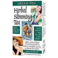 21st Century, Травяной чай для похудения, зеленый чай, 24 чайных пакетиков, 1,6 унции (45 г)
