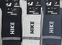 Носки мужские демисезонные х/б спортивные Nike, 42-45 размер, высокие, ассорти, 11501