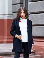 """Пальто класичне на 1 гудзик """"Оксфорд"""" чорне"""