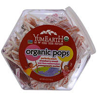 YumEarth, Органические леденцы на палочке, 25+ леденцов, 6 унций (170 г)