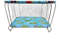 """Манеж детский игровой""""KinderBox"""" (лужайка)с крупной сеточкой"""