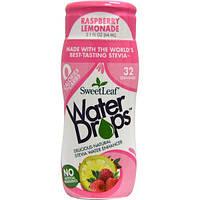 Wisdom Natural, Sweet Leaf, Water Drops, Raspberry Lemonade, 2.1 fl oz (64 ml)