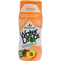 Wisdom Natural, Sweet Leaf, Water Drops, Peach Mango, 2.1 fl oz (64 ml)