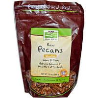 Now Foods, Real Food, сырые орехи пекан, половинки и целые орехи, 12 унций (340 г)