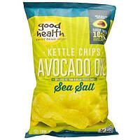 Good Health Natural Foods, Чипсы Kettle, масло авокадо, морская соль, 5 унции (141,7 г)