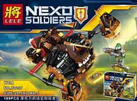 """Конструктор LELE 79237 Nexo Knight (аналог Лего) """"Лавинный разрушитель Молтора"""", 199 дет"""