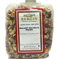 Bergin Fruit and Nut Company, Грецкий орех половинками и кусочками, 11 унций (312 г)