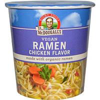 Dr. McDougalls, Лапша с курицей, Вегетарианский продукт, 1,8 унции (51 г)