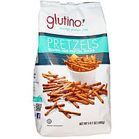 Glutino, Не содержащие глютен крендели с солью, 14.1 унции (400 гр)