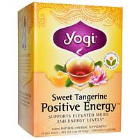 Yogi Tea, Positive Energy со вкусом сладкого мандарина, 16 чайных пакетиков, 1.02 унций (29 г)