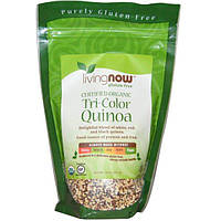 Now Foods, Сертифицированная органика, Трехцветная киноа, 14 унций (397 г)