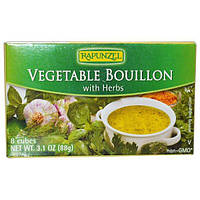 Rapunzel, Вегетарианский овощной бульон с травами, 8 кубиков, 3,1 унции (88 г)