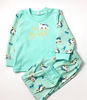 Пижама для девочки Котята, мята (р.86,92)