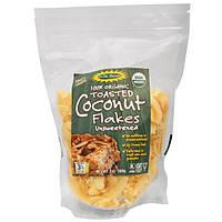 Edward & Sons, Lets Do Organic,100% органическая обжаренная кокосовая стружка, без подсластителей, 7 унций (200 г)