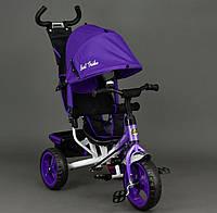 Велосипед трехколёсный Best Trike 6570 фиолетовый, пена