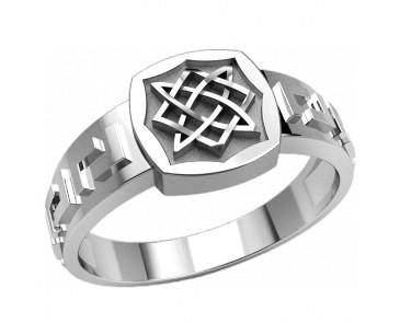 Кольцо серебряное Квадрат Сварога 30358