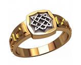 Кольцо серебряное Квадрат Сварога 30358, фото 2
