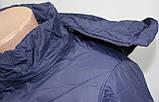 Куртка женская осенняя, с капюшоном, темно-синяя, фото 5