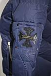 Куртка женская осенняя, с капюшоном, темно-синяя, фото 7