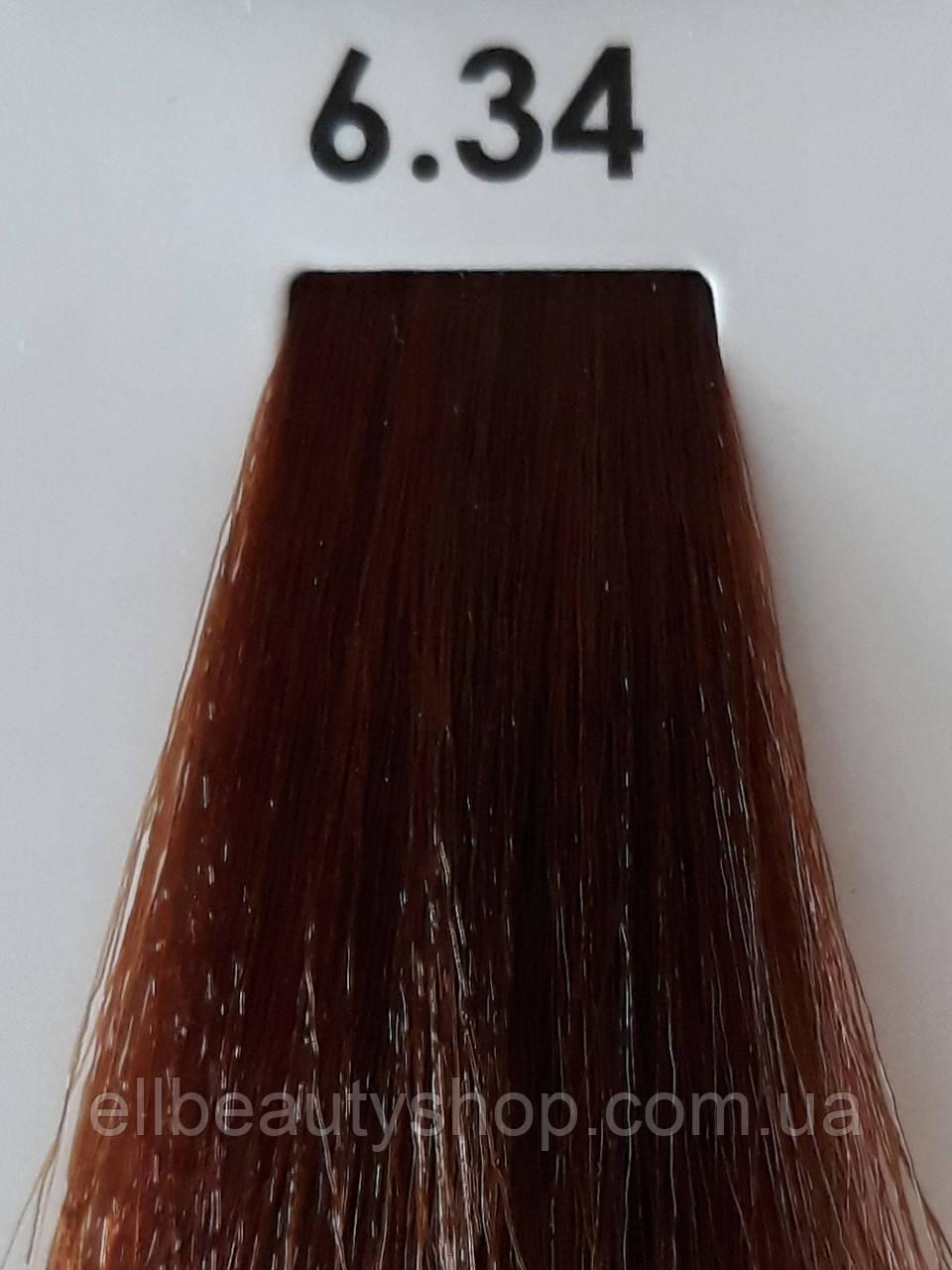 Стойкая крем-краска для волос  Luxor Color  6.34 темно-русый золотисто-медный