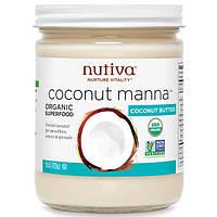 Nutiva, Органическая кокосовая манна, пюре из кокоса, 15 унций (425 г)