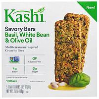 Kashi, Пряные батончики с базиликом, белой фасолью и оливковым маслом, 10 батончиков, 5 упаковок по 2 батончика, каждая весом 1,05 унции (30 г)