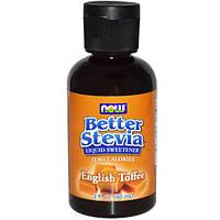 Now Foods, Жидкий подсластитель Better Stevia со вкусом английского ириса, 2 жидкие унции (60 мл)