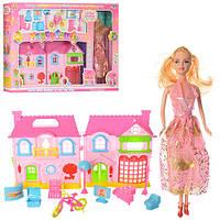 Кукольный дом с куклой,мебелью батар.муз.свет