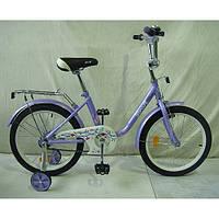 Детский велосипед двухколесный + дополнительные колеса, PROFI, 18 дюйм.