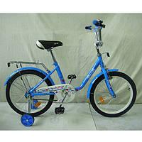 Детский 2-х колесный велосипед со страховочными колесами, PROFI, 18 дюймов