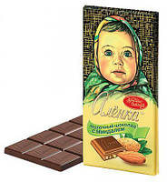 Шоколад Аленка молочный с миндалем  Красный Октябрь 100 грамм
