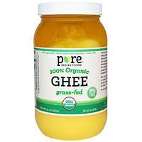 Pure Indian Foods, Гхи, 100% органический продукт из молока буйволиц, вскормленных на подножном корме, 15 унций (425 г)