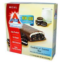 Atkins, Батончики со вкусом печенья со сливками, 5 шт. , 1,7 унции ( 48 г) каждый
