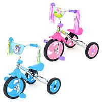 Велосипед 3-х колесный, 2 цвета, мягкое сидение