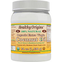 Healthy Origins, Органическое кокосовое масло первого отжима, 54 унции (1,503 г)