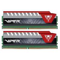 Модуль памяти для компьютера DDR4 16GB (2x8GB) 2400 MHz Viper Elite Red Patriot (PVE416G240C5KRD)