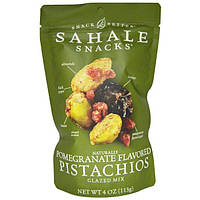 Sahale Snacks, Snack Better, фисташки с натуральным вкусом граната, глазированная смесь, 4 унции (113 г)