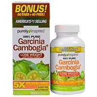 Purely Inspired, Гарциния Камбоджийская+, 1600 мг, 100 легко глотаемых таблеток