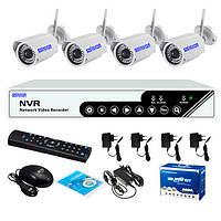 Комплект видеонаблюдения с беспроводными камерами dvr kit 6004 wifi 3204 4ch