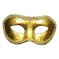 Венецианская маска для маскарада Золото