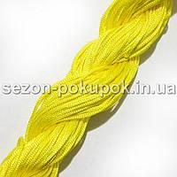 (25метров) Шнур капроновый (шамбала) 1мм Цвет- ЛИМОННЫЙ