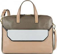 Красивый кожаный портфель + клатч для женщин Piquadro ANDROMEDA/Cappuccino, CA1903W77_BE бежевый