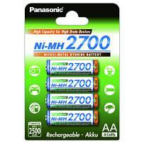 Аккумулятор PANASONIC High Capacity AA 2700 mAh * 4 (BK-3HGAE/4BE)