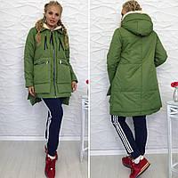 Женская куртка до колен трансформер
