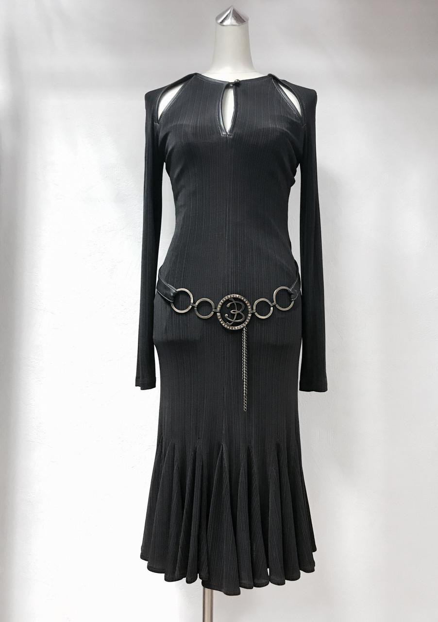 Платье Balizza с натуральной кожей цвет шоколад