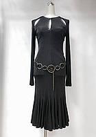 Платье Balizza с натуральной кожей цвет шоколад, фото 1
