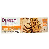 Dukan Diet, Печенье из овсяных отрубей с кусочками шоколада, 6 пакетиков по 3 печенья, (37 г) каждый