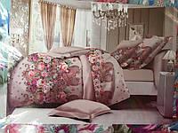 Постельное белье из сатина евро цветочный принт