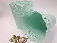 Горшок кружевной Lace Мятный, фото 1